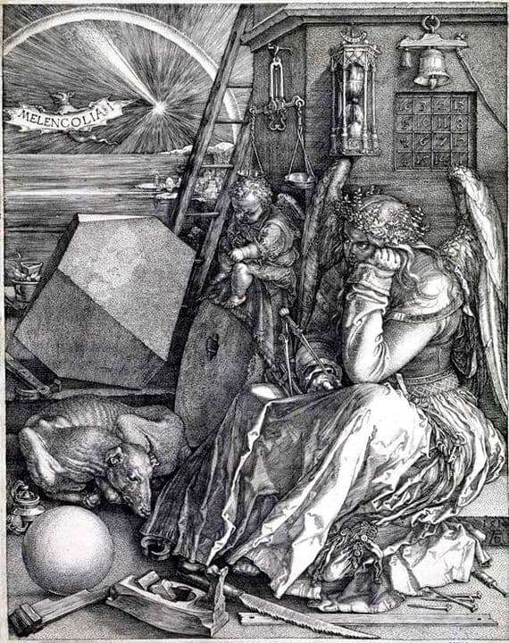 Description of the engraving of Albrecht Durer Melancholy