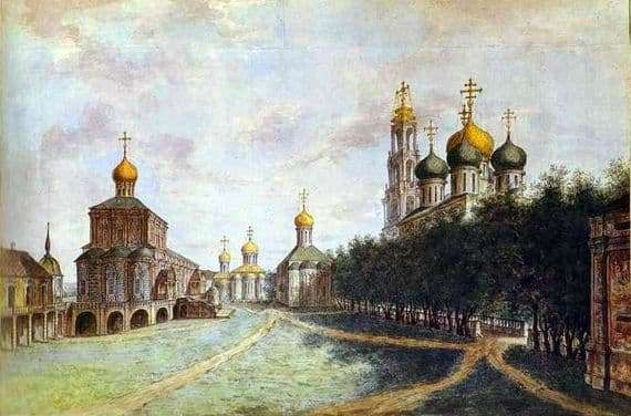 Description of the painting by Fyodor Alekseev Trinity Sergius Lavra