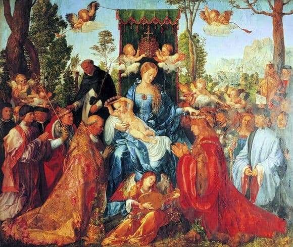 Description of the painting by Albrecht Durer Holiday Rosary