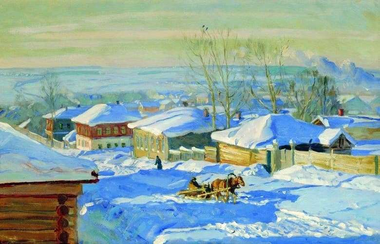 Description of the painting by Stanislav Zhukovsky Winter