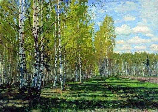 Description of the painting by Stanislav Zhukovsky Forest