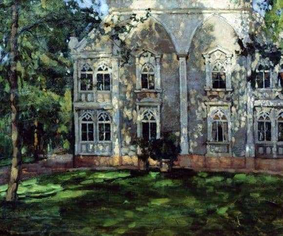 Description of the painting by Stanislav Zhukovsky In the Park