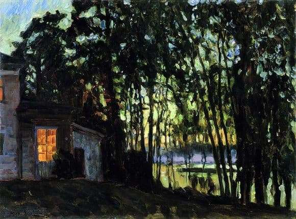 Description of the painting by Stanislav Zhukovsky July night