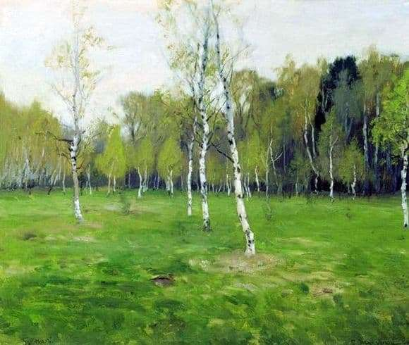Description of the painting by Stanislav Zhukovsky In May