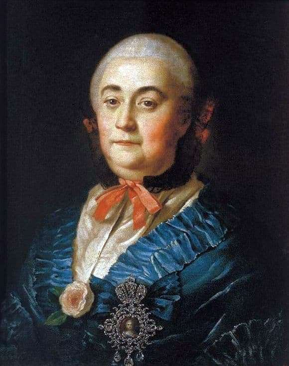 Description of the painting by Alexey Antropov Portrait of A. M. Izmailova