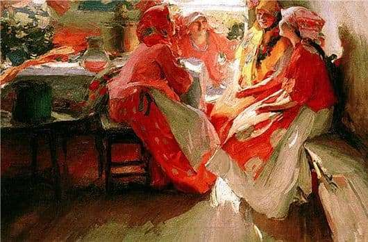 Description of the painting by Abram Arkhipov Away
