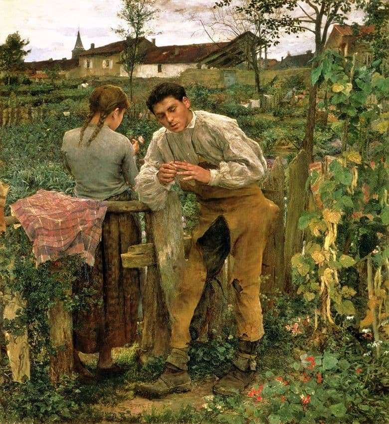 Description of the painting by Jules Bastien Lepage Country Love