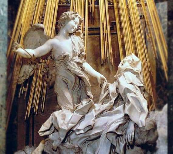Description of the sculpture by Giovanni Bernini Ecstasy of St. Theresa