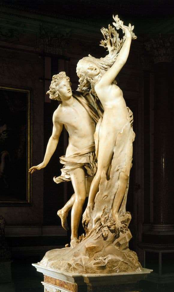 Description of the sculpture by Giovanni Bernini Apollo and Daphne