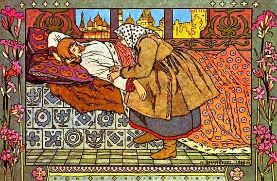 Illustration to the fairy tale Finista Jasna Sokol feather by Ivan Bilibin