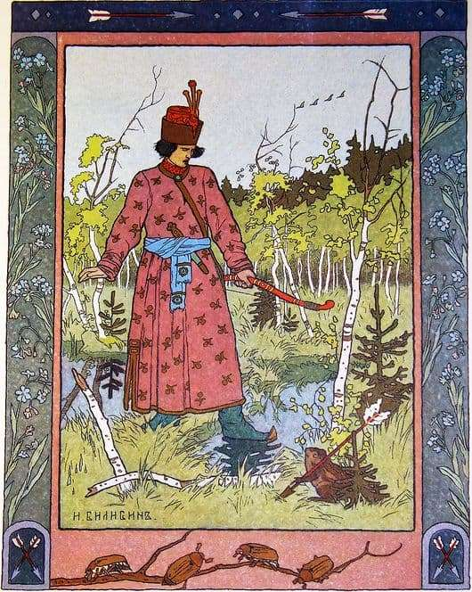 Illustration for the fairy tale The Frog Princess by Ivan Bilibin (Ivan Tsarevich and the Frog)