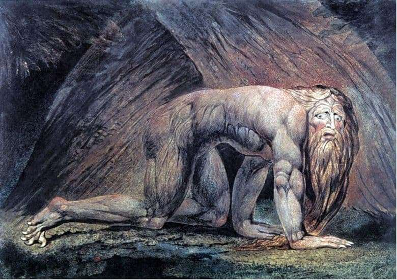 Description of the painting by William Blake Nebuchadnezzar