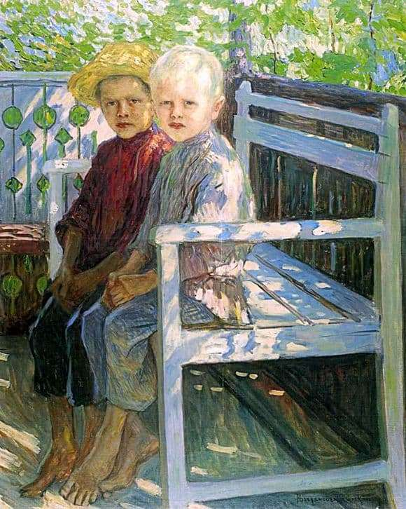 Description of the painting by Nikolai Bogdanov Belsky Children