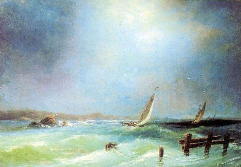 Description of the painting by Alexei Bogolyubov Sea View
