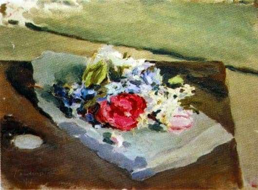 Description of the painting by Victor Borisov Musatov Flowers
