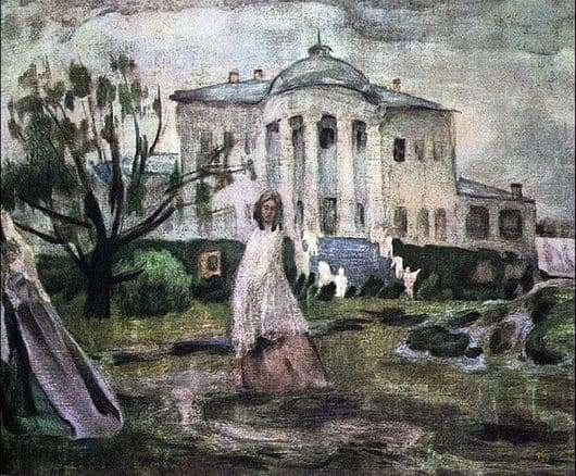 Description of the painting by Victor Borisov Musatov Ghosts