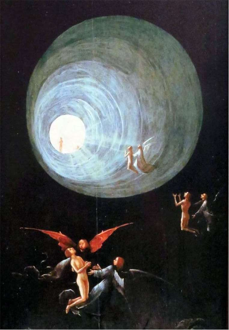 Description of the painting by Hieronymus Bosch Ascension of the Righteous