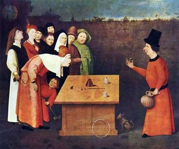 Description of the painting by Hieronymus Bosch Magician