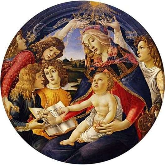 Description of the painting by Sandro Botticelli Madonna Magnificat