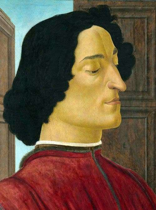 Description of the painting by Sandro Botticelli Portrait of Giuliano Medici