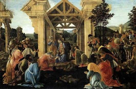 Description of the painting by Sandro Botticelli Adoration of the Magi