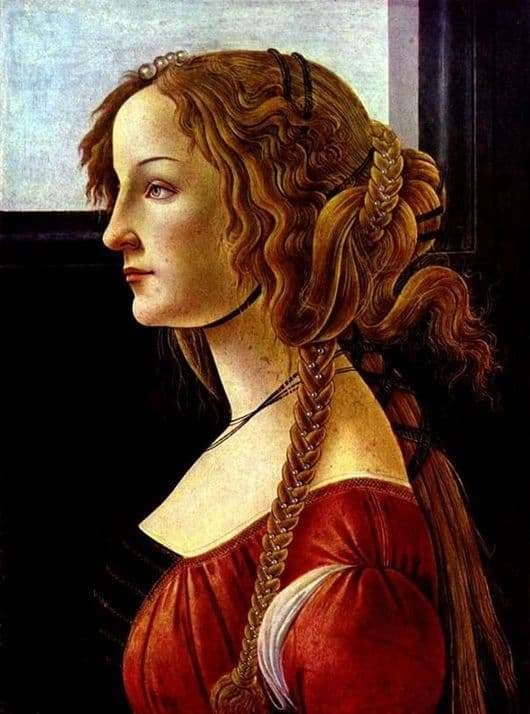 Description of the painting by Sandro Botticelli Simonetta Vespucci