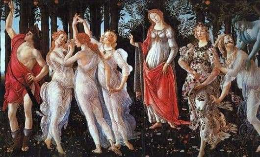 Description of the painting by Sandro Botticelli Spring