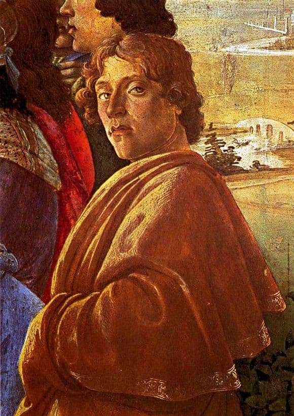 Description of the painting by Sandro Botticelli Self portrait