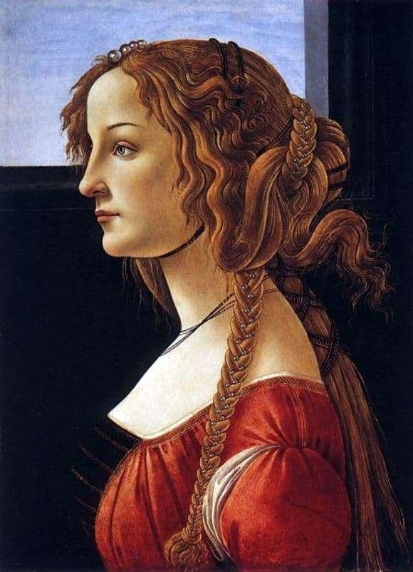 Description of the painting by Sandro Botticelli Portrait of a young woman