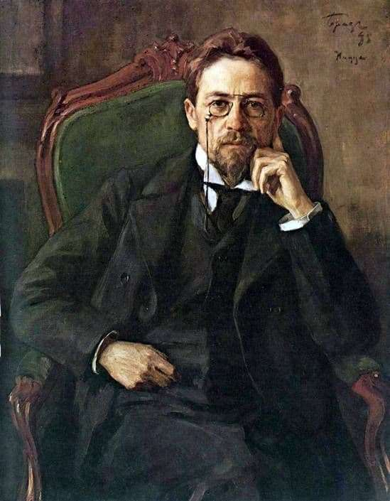 Description of the painting by Osip Braz Portrait of Anton Pavlovich Chekhov