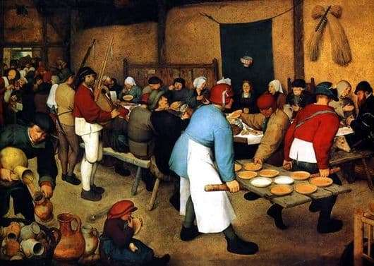 Description of the painting by Peter Bruegel The Peasant Wedding