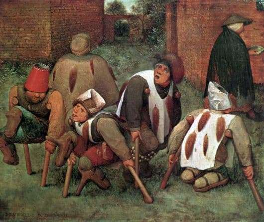 Description of the painting by Peter Bruegel Cripple