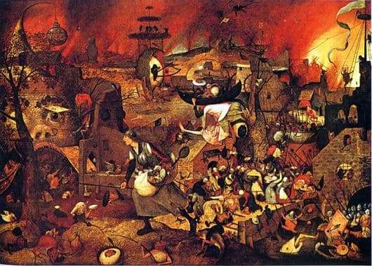 Description of the painting by Peter Bruegel Mad Greta