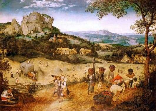 Description of the painting by Pieter Bruegel Harvest