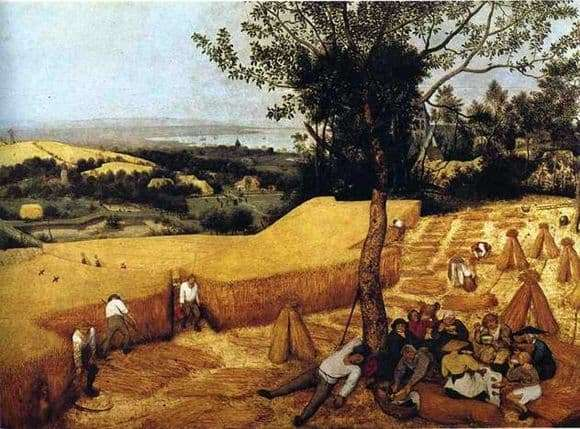 Description of the painting by Peter Bruegel Seasons