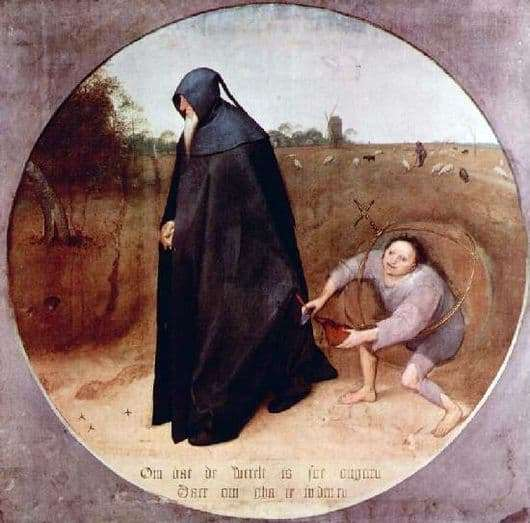 Description of the painting by Peter Bruegel Misanthrope