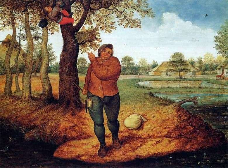 Description of the painting by Peter Bruegel Nest Dammer