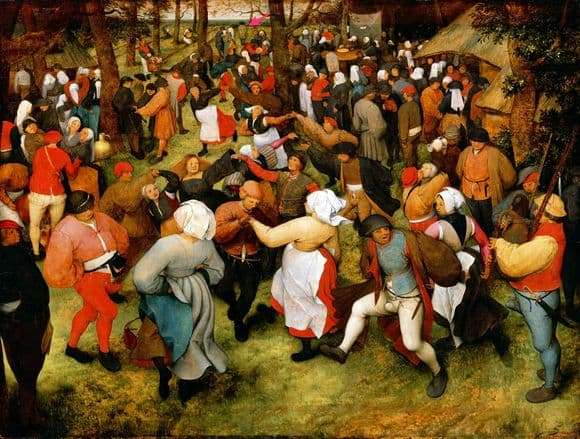 Description of the painting by Peter Bruegel Wedding Dance