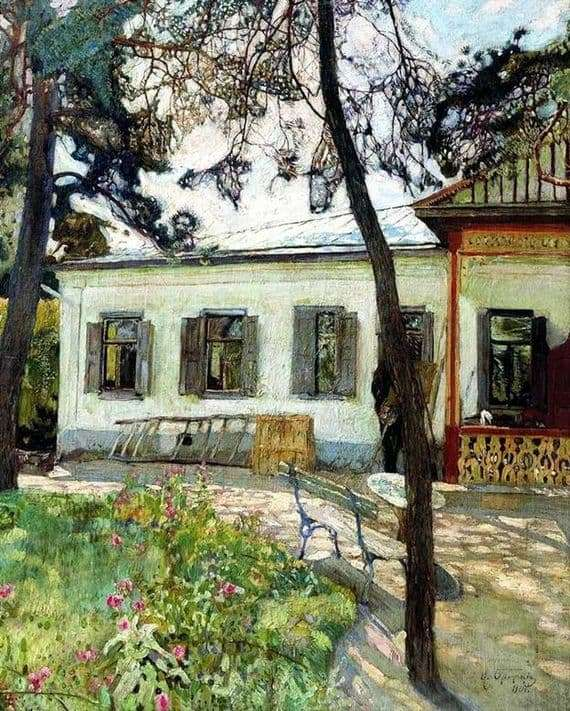 Description of the painting by Isaac Brodsky At the dacha