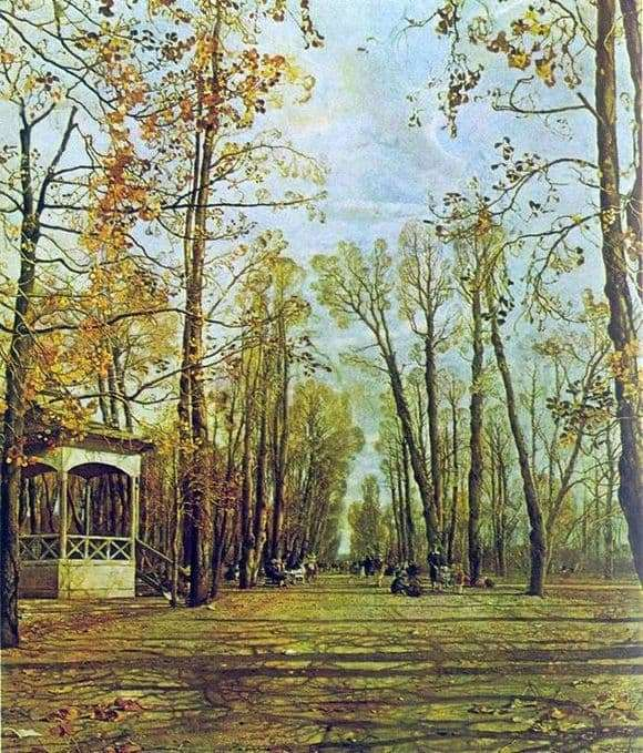 Description of the painting by Isaac Brodsky Summer Garden in the Autumn