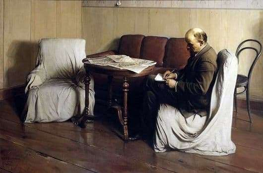 Description of the painting by Isaac Brodsky Lenin in Smolny