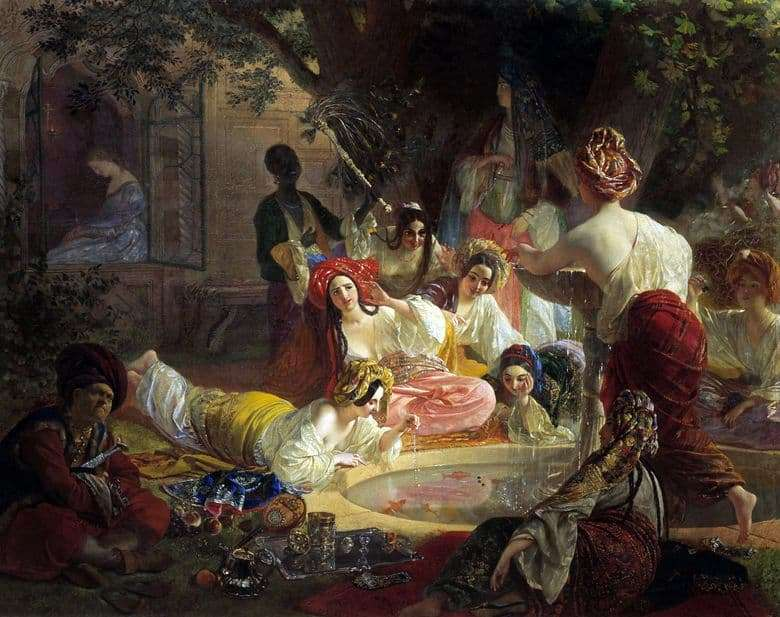 Description of the painting by Karl Bryullov The Fountain of Bakhchisarai