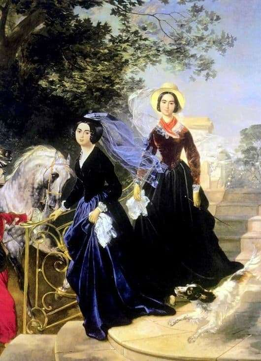 Description of the painting by Karl Bryullov Portrait of Shishmaryov sisters