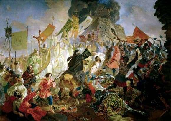 Description of the painting by Karl Bryullov The Siege of Pskov