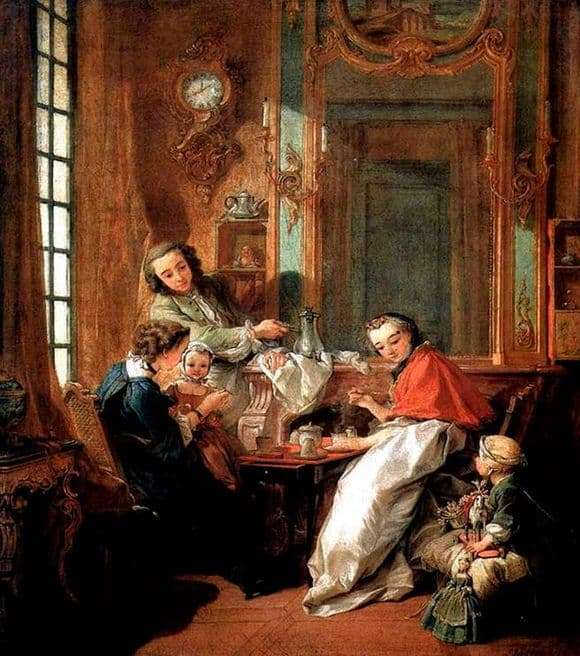 Description of the painting by Francois Boucher Breakfast