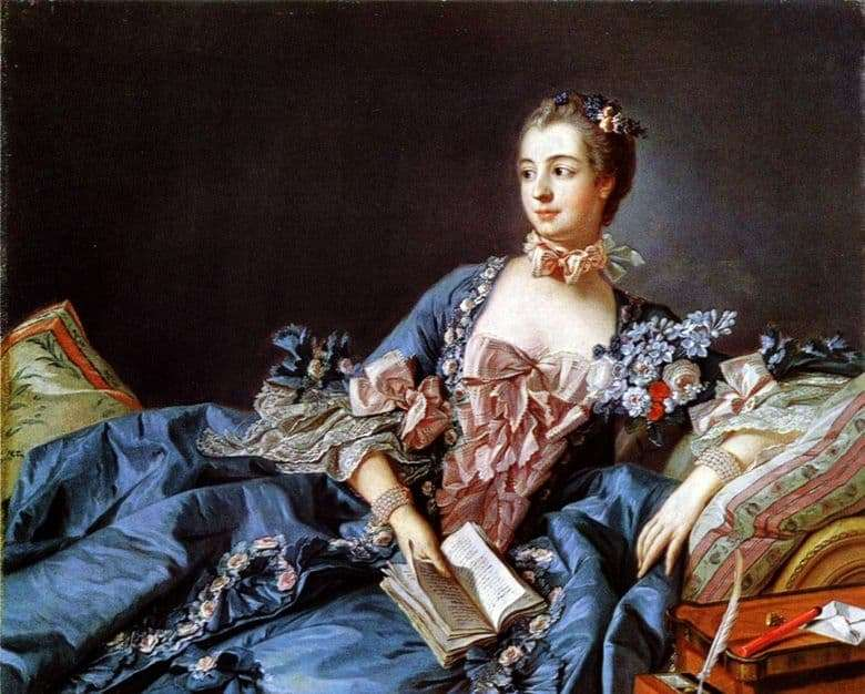 Description of the painting by Francois Boucher Madame de Pompadour