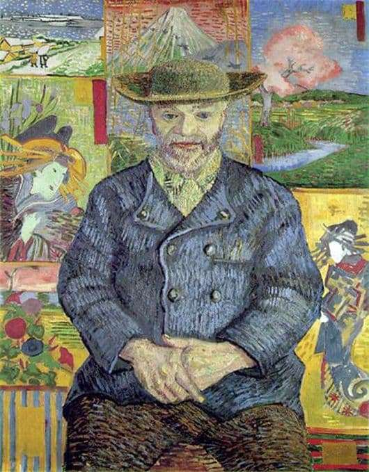 Description of the painting by Vincent Van Gogh Portrait of Papa Tanga