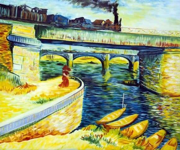 Description of the painting by Vincent Van Gogh Bridges over the Seine