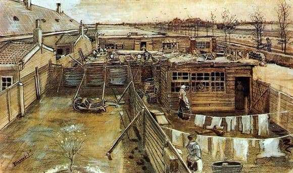 Description paintings by Vincent Van Gogh Backyards