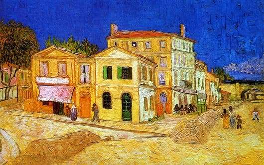 Description of the painting by Vincent Van Gogh Yellow House